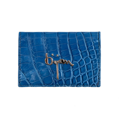 Royal Blue Leather Card Holder