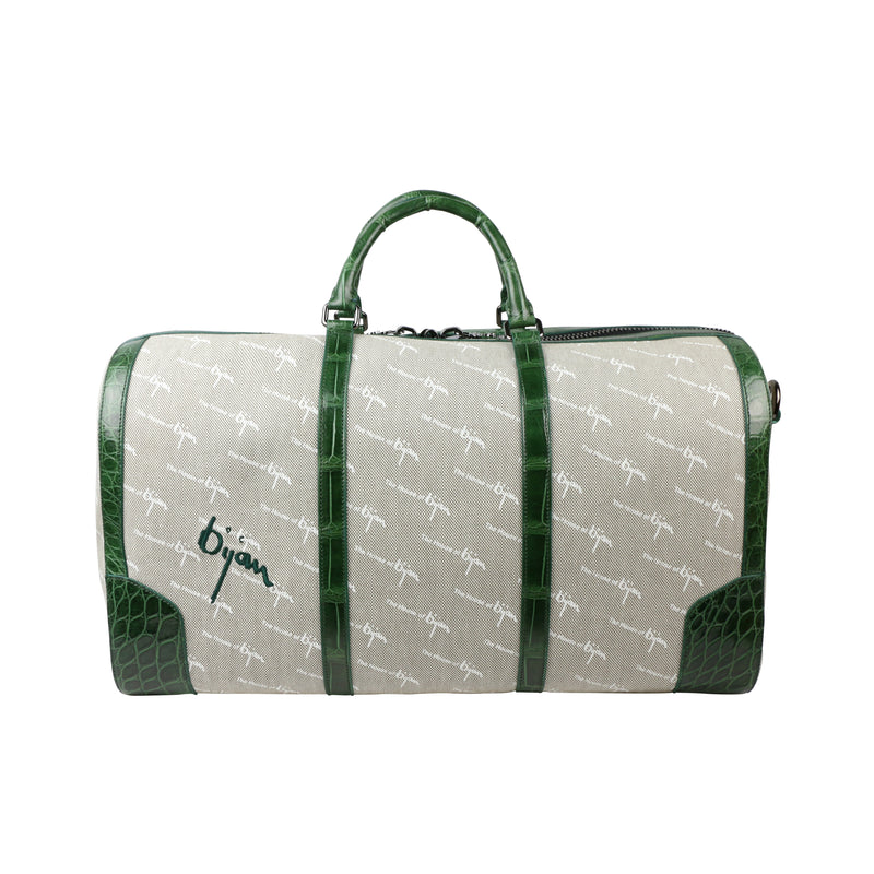Bijan Green Duffle Bag