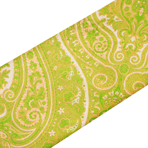Lime Green and Pink Paisley