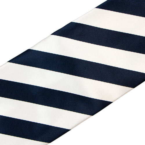 Navy and White Stripe