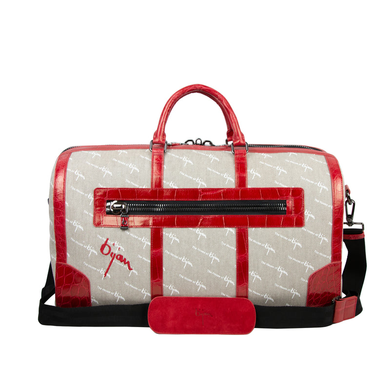 Bijan Red Duffle Bag