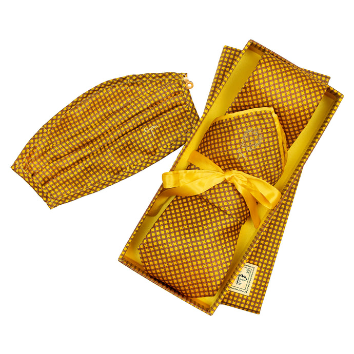 The Bijan Limited Edition Pure Silk Tie and Mask Set