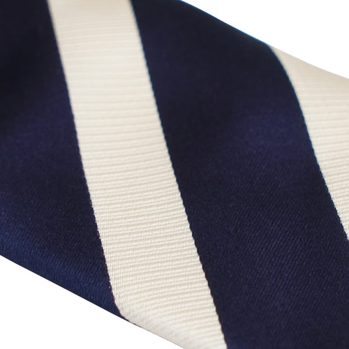 Navy and Ivory Stripe