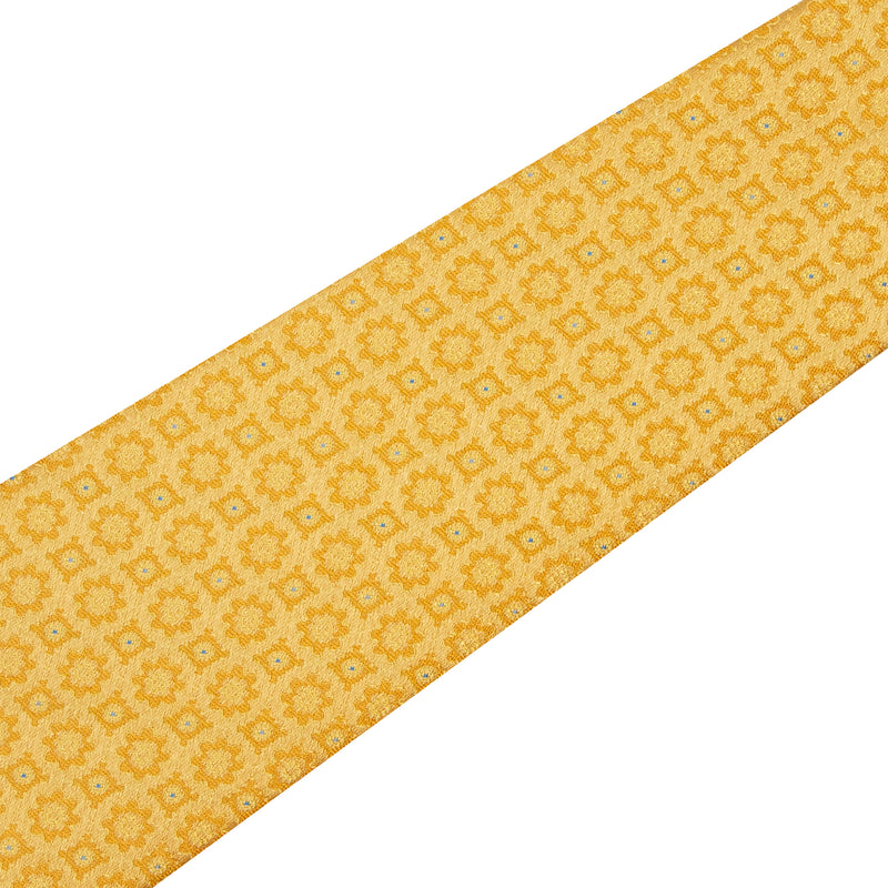 Bijan Yellow Iridescent Pure Silk Tie Set
