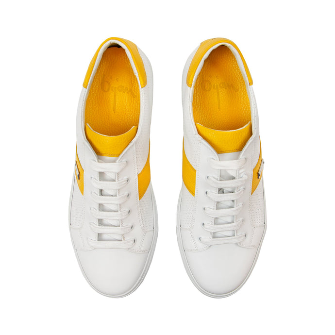 Bijan Yellow and White