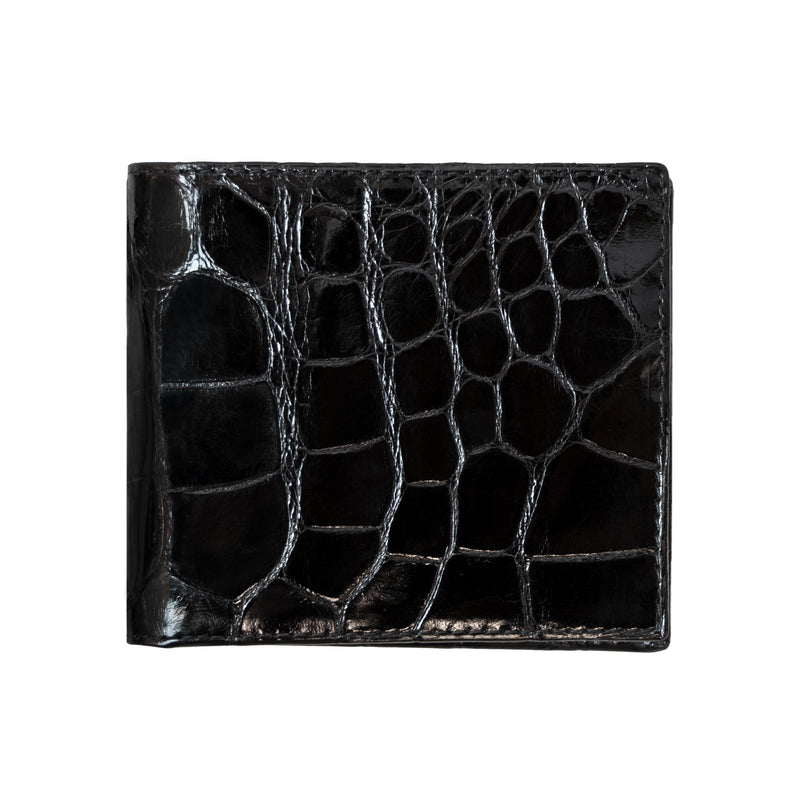 Bijan Black Leather Bi-Fold Wallet