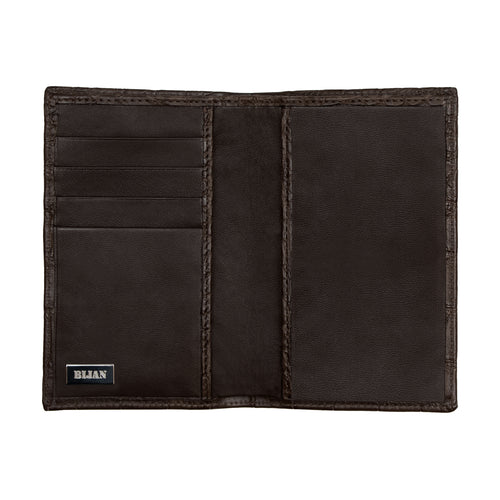 Brown Alligator Passport Holder