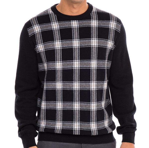 Bijan Pure Cashmere Crew Neck Sweater