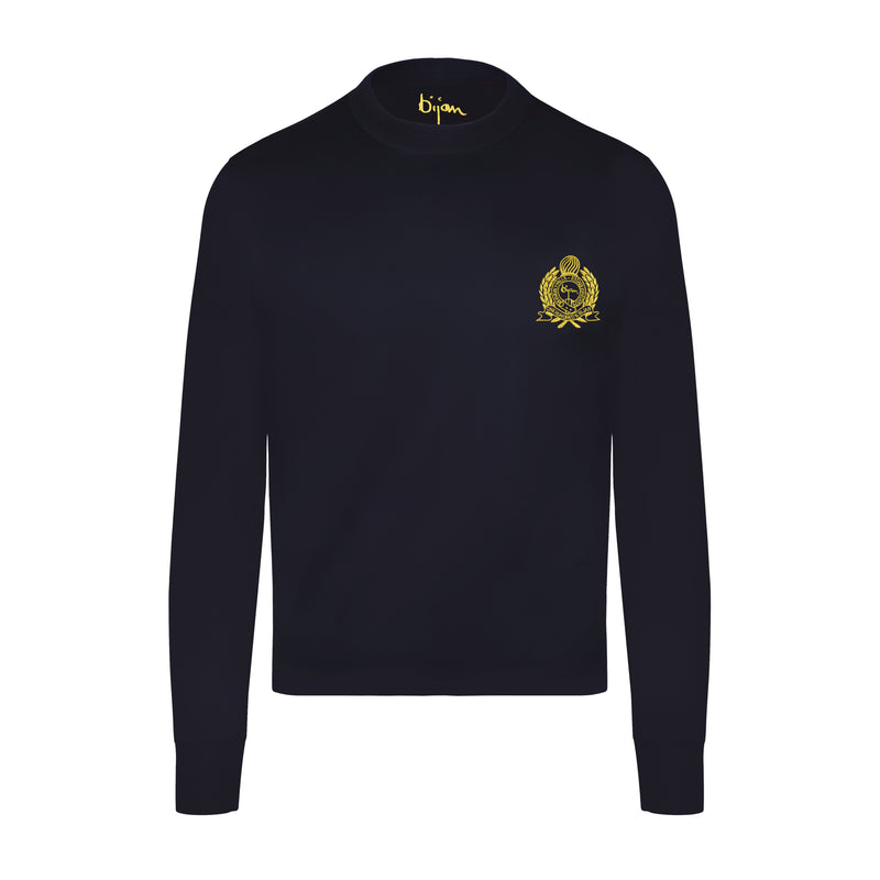 Navy with Yellow Crest