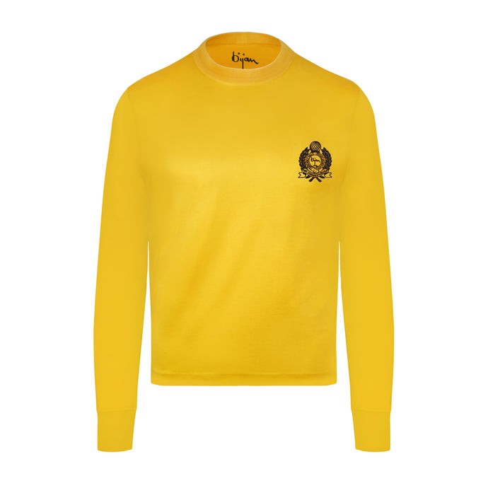Yellow with Navy Crest
