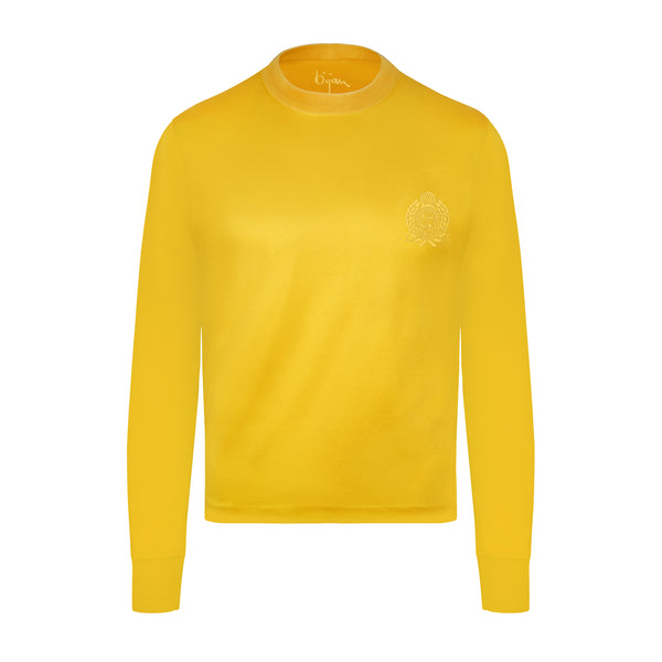 Bijan Yellow with Yellow Crest Long Sleeve T-Shirt
