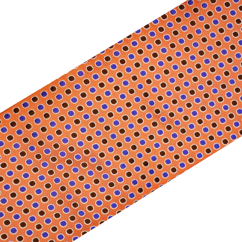 Bijan Peach and Purple Pure Silk Tie Set