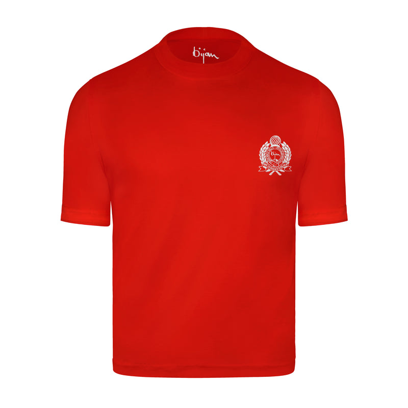 Bijan Red with White Crest T-Shirt