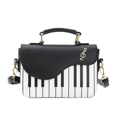 Piano Genuine Leather Handbag