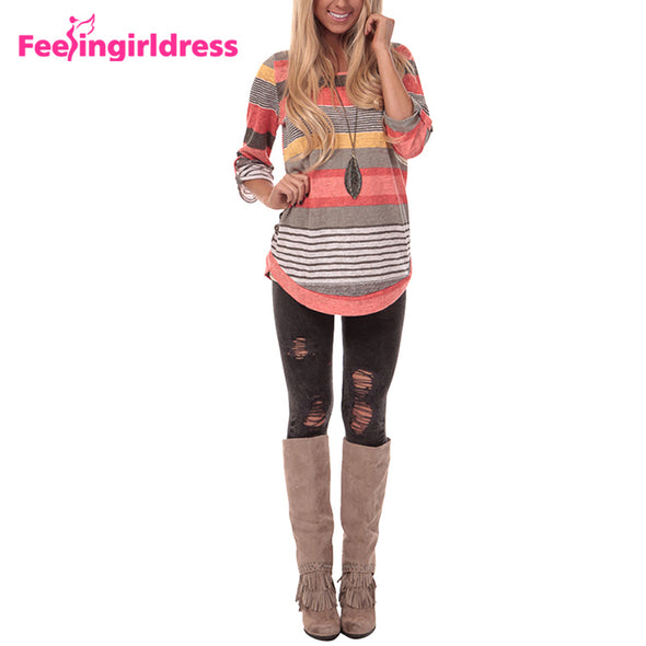 Women Round Neck Fashion Casual Spring Women Long Sleeve Blouse-Latest and Trendy Design - Moventin