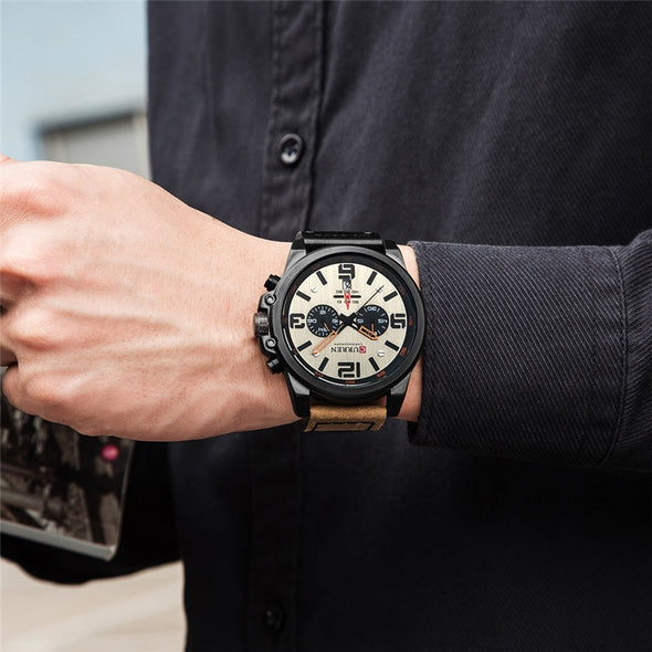 Military Style Chronograph Watch - Moventin