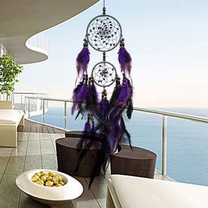 Purple Dream Catchers Feather Crafts Wind Chimes Handmade