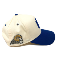 Creme Royal Blue GK Snapback (Rams)