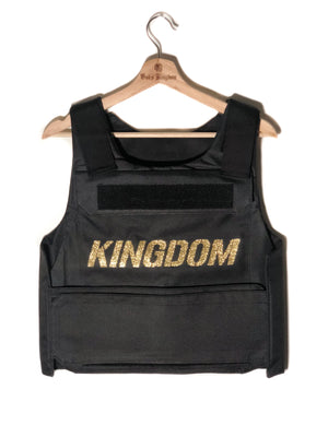 Bulletproof Vest Gold Buss Down