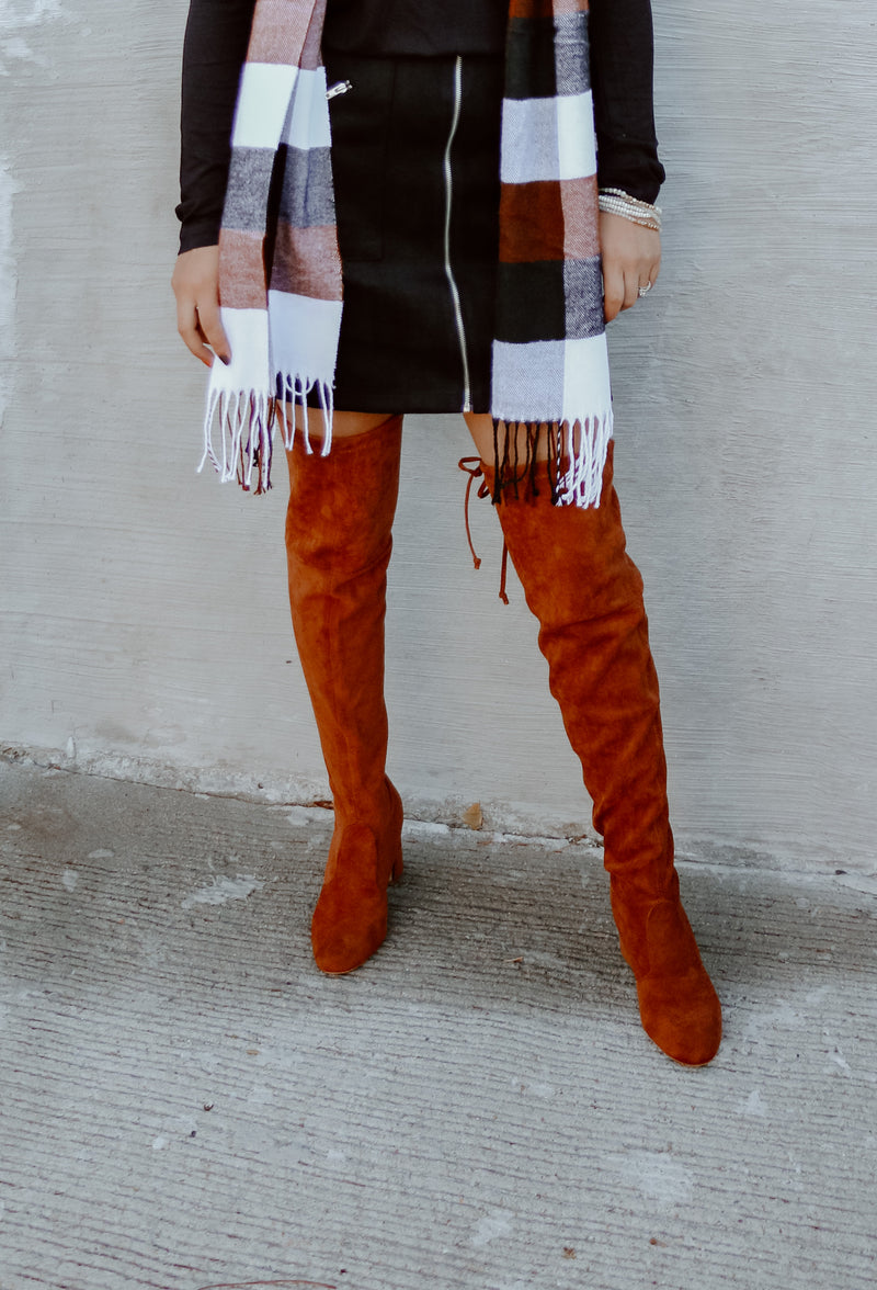 THE JADEN TAN KNEE HIGH BOOT