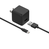 Single USB Wall Charger with 5ft Lightning Cable - Black
