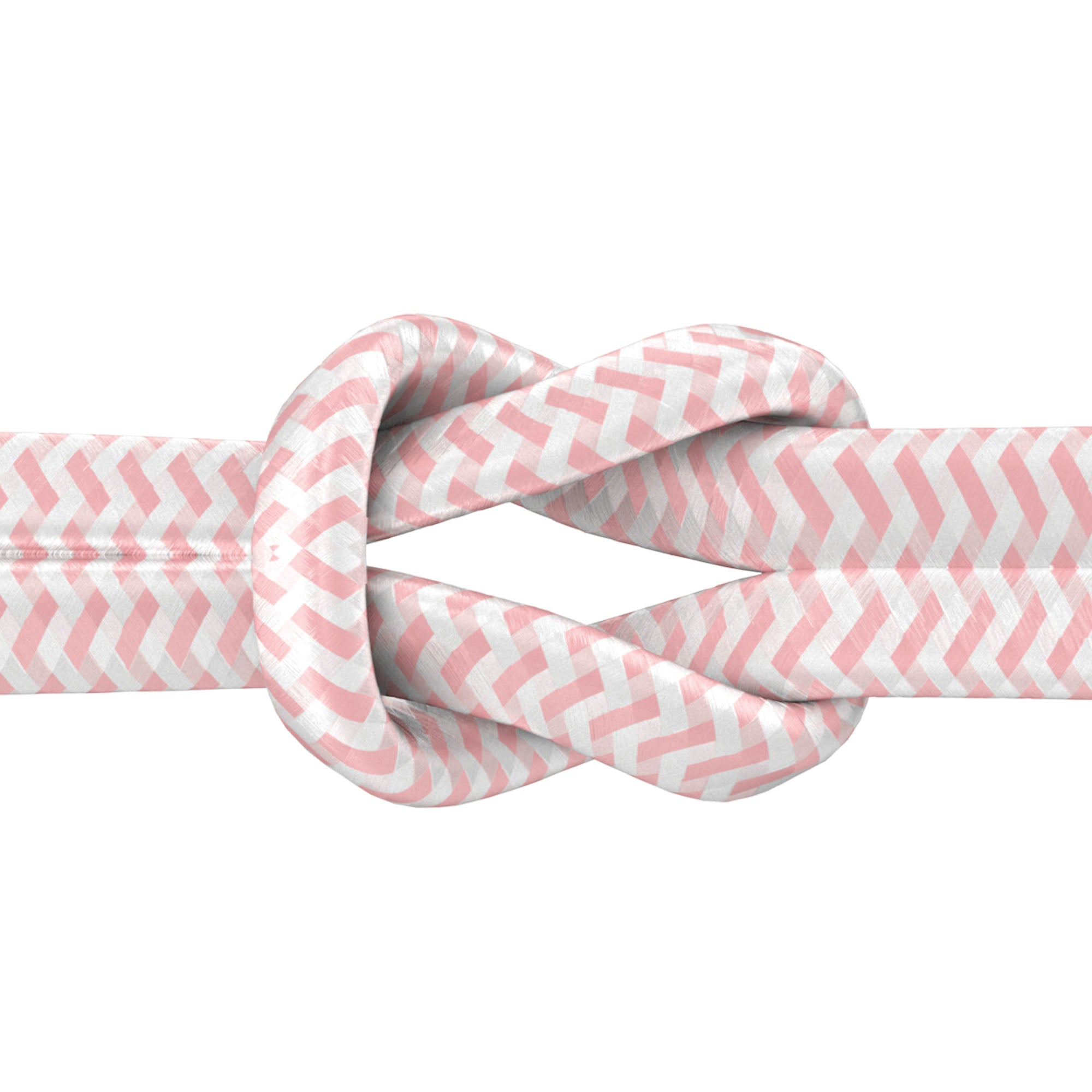 6ft Nylon Braided Flat USB-C Cable - Rose Gold