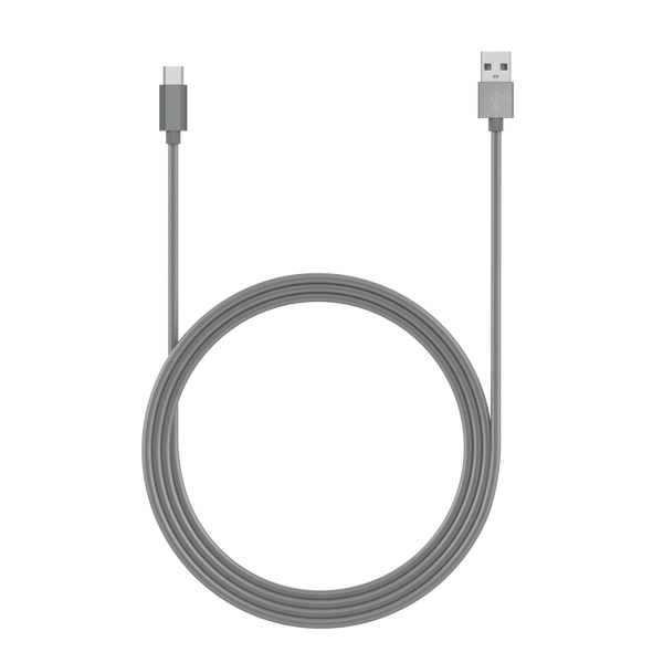 Just Wireless - 10' USB-C to USB-A Braided Cable