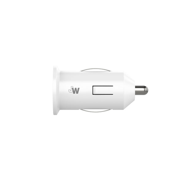 1.0A/5W 1-Port USB-A Car Charger - White