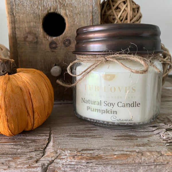 PUMPKIN CARAMEL - NATURAL SOY CANDLE
