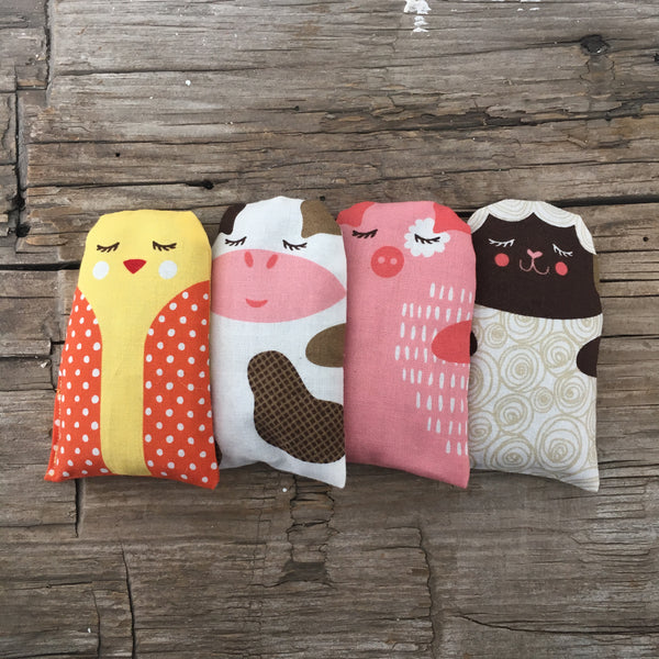 FARM ANIMALS - HAND WARMERS / POUCHIES FOR OUCHIES