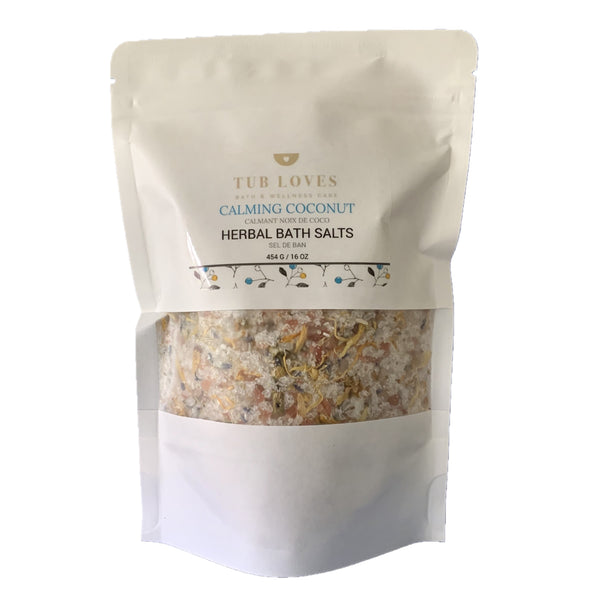 CALMING COCONUT - HERBAL BATH SALTS