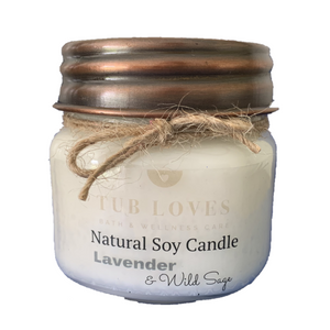 LAVENDER & WILD SAGE - NATURAL SOY CANDLE