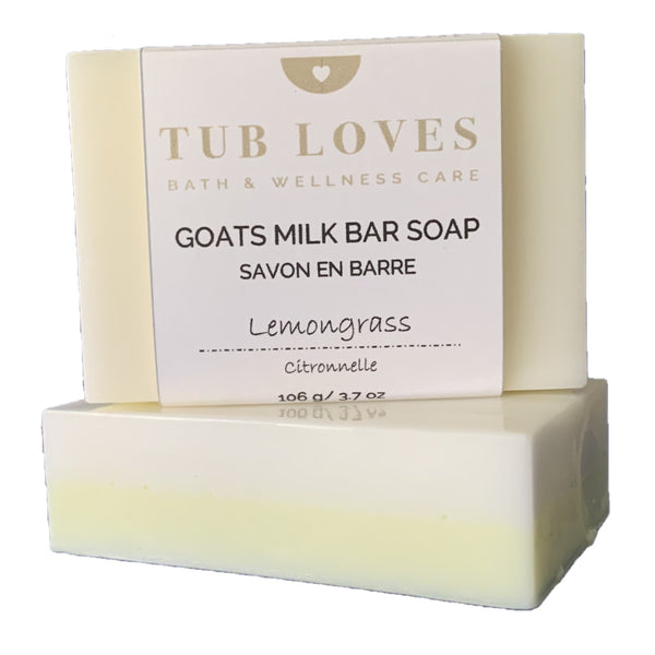 LEMONGRASS - GOATS MILK BAR SOAP