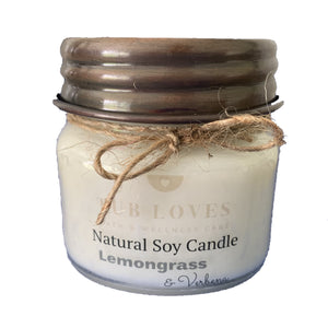 LEMONGRASS & VERBENA - NATURAL SOY CANDLE