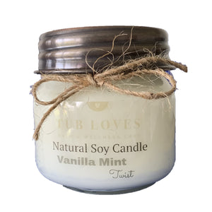 VANILLA MINT TWIST - NATURAL SOY CANDLE