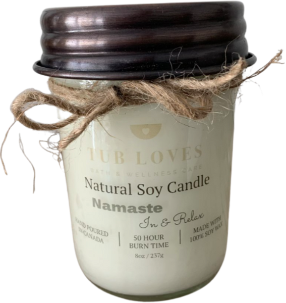 NAMASTE IN & RELAX - NATURAL SOY CANDLE