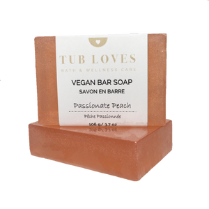 PASSIONATE PEACH - VEGAN BAR SOAP