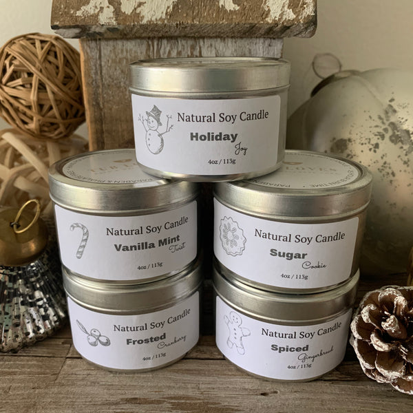 WINTER MINI COLLECTION - NATURAL SOY CANDLE