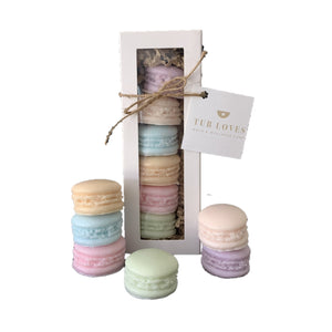 MACARON TRIPLE BUTTER GOATS MILK SOAP - SPRING FRESH GIFT SET