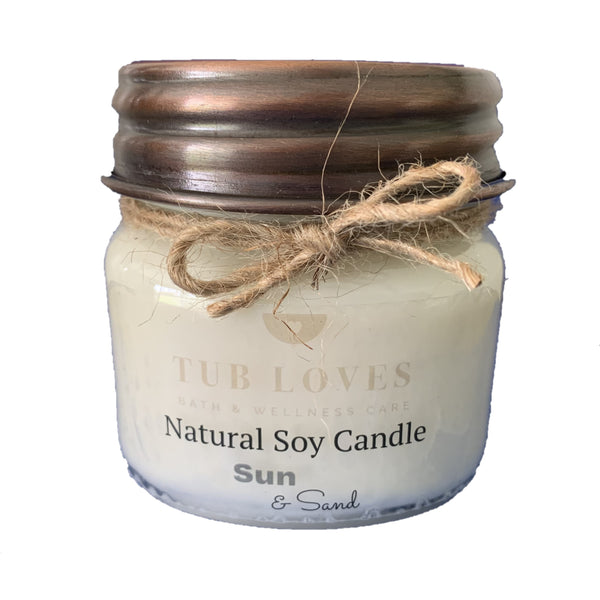 SUN & SAND - NATURAL SOY CANDLE