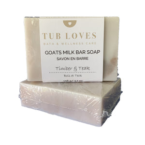 TIMBER & TEAK - GOATS MILK BAR SOAP