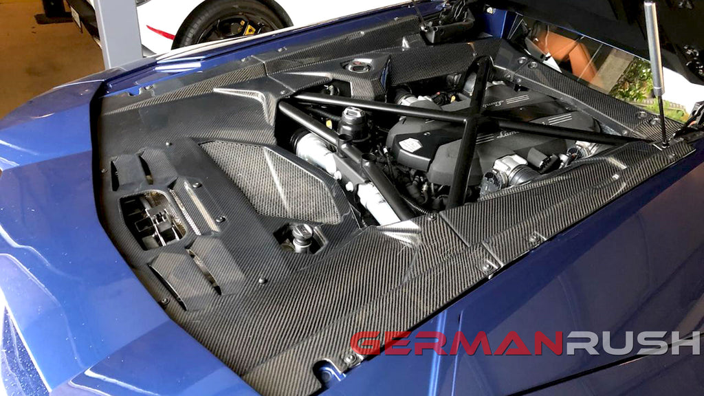 Check Out our new product | Lamborghini Aventador 2011-2019 Carbon Fiber 6 piece Engine Bay Kit by German Rush