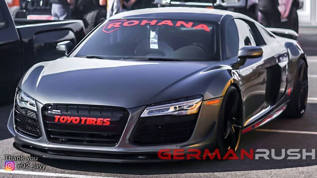 Jayy's Audi R8 at the 2019 SEMA show in Las Vegas Featuring German Rush Carbon Fiber Upgrades