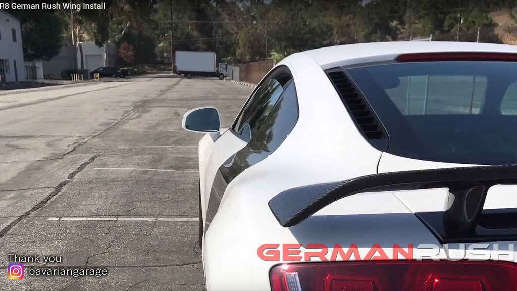Audi R8 German Rush Wing Install by BAVARIAN GARAGE BMW | PORSCHE | AUDI