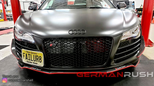 Marshall's Audi R8 with German Rush Carbon Fiber Front Splitter