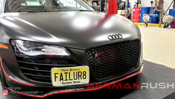 Marshall's Audi R8 German Rush Carbon Fiber Front Splitter