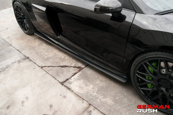 SIDE SPLITTER FOR AUDI R8 2007-2015 IN CARBON FIBER OR FIBERGLASS