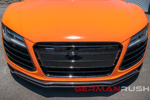 Front Splitter German Rush Dual for Audi R8 2007-2015 in Carbon Fiber or Fiberglass