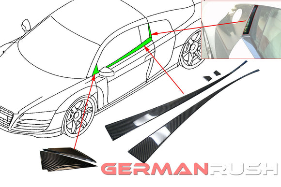 Door Trim in Carbon Fiber for the Audi R8 Coupe