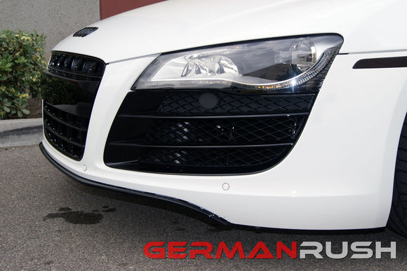 Front Splitter for Audi R8 2007-2015 in Carbon Fiber or Fiberglass